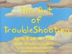 Keith Brooks The Art of TroubleShooting